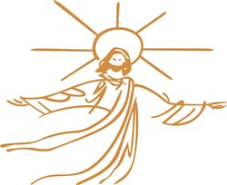 Jesus Outline print art