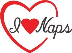 I Love Naps print art