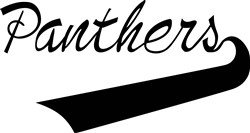 Panthers Lettering print art