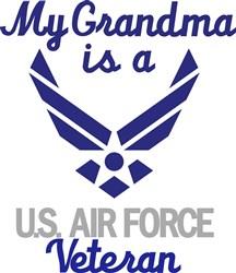 Grandma Is Air Force Vet print art