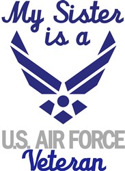 Sister Is Air Force Vet print art