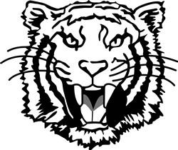 Tigers Outline print art