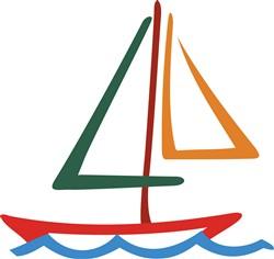 Sailboat Outline print art