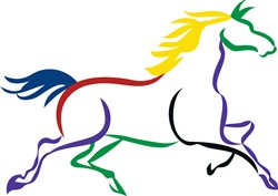 Multicolor Horse print art