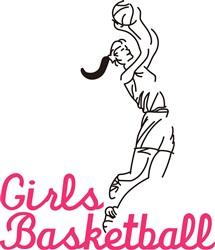 Girls Basketball print art