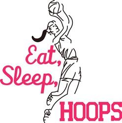 Eat, Sleep, Hoops print art