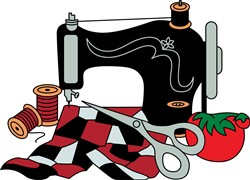 Sewing Machine and Quilt print art