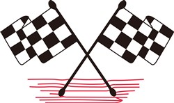 Crossed Checkered Flags print art