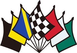 7 Racing Flags print art