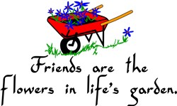 Friends Are Flowers print art