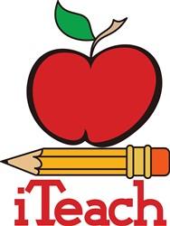 iTeach Teachers Apple print art