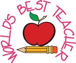 Worlds Best Teacher print art