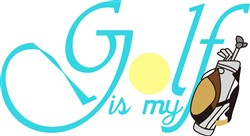 Golf is my Bag print art