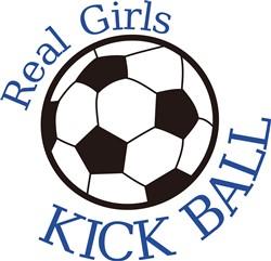 Real Girls Kick Ball print art