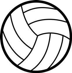 Volleyball print art