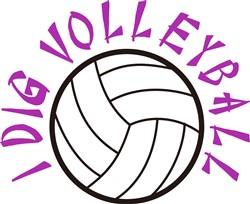 I Dig Volleyball print art