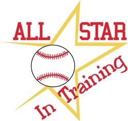 All Star In Training print art
