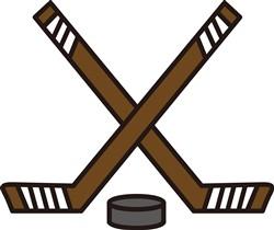 Hockey Sticks and Puck print art