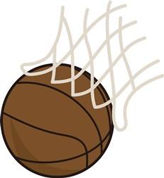 Net and Basketball print art