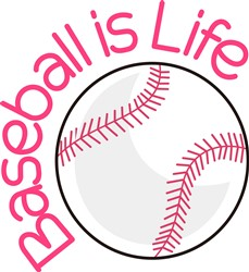 Baseball is Life print art