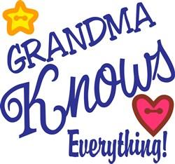 Grandma Knows Everything print art