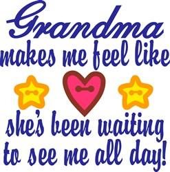 Grandma Been Waiting print art