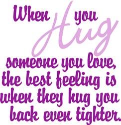 When You Hug print art