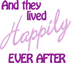 They Lived Happily print art