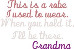 Robe Grandma print art