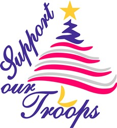 Support Our Troops print art