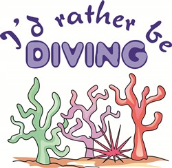 ID RATHER BE DIVING print art