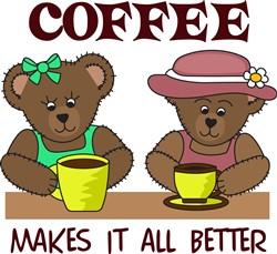 COFFEE MAKES IT BETTER print art