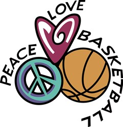 Peace Love Basketball print art