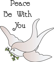 Peace Be With You print art