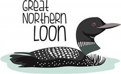 Great Northern Loon print art
