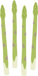 Asparagus print art
