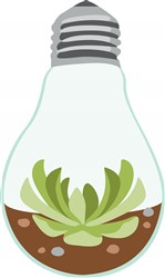 Succulent Light Bulb print art