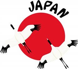 Japan Cranes print art