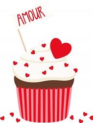 Amour Cupcake print art