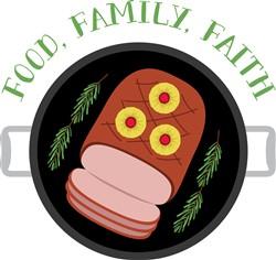 Food Family Faith print art