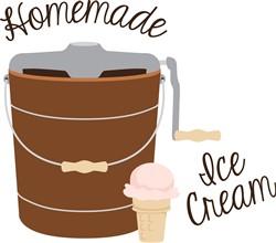 Homemade Ice Cream print art