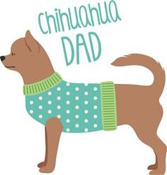 Chihuahua Dad print art