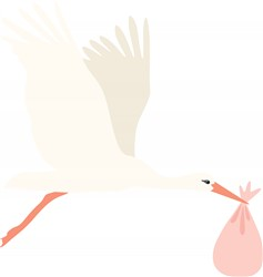 Stork Bundle print art