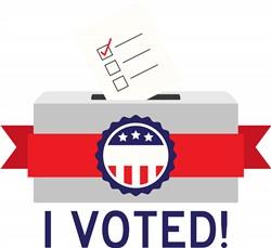 I Voted print art