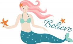 Believe Mermaids print art