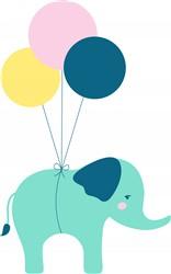 Elephant Balloons print art