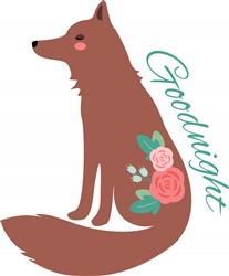 Goodnight Fox print art