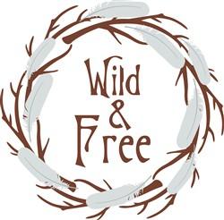 Wild & Free Wreath print art