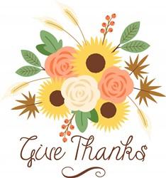 Give Thanks Bouquet print art
