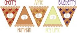 Fruit Pie Slices print art